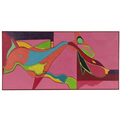 E. Reese, Jr. Abstract Oil Painting, 1994