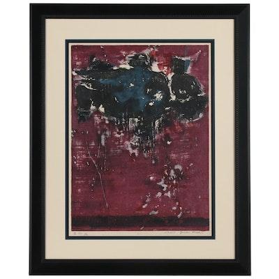 Joichi Hoshi Abstract Woodblock, 1963