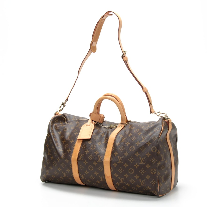 Louis Vuitton Keepall Bandoulière 50 Duffel in Monogram Canvas and Leather