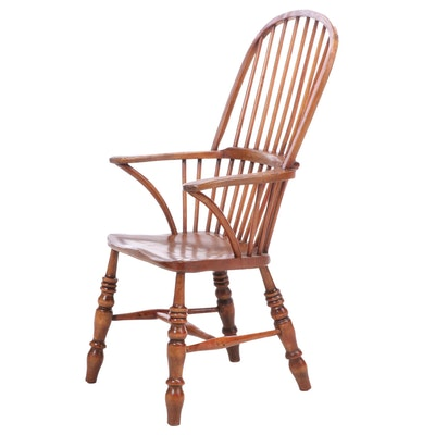 English Elm and Beech Windsor Armchair, 19th Century