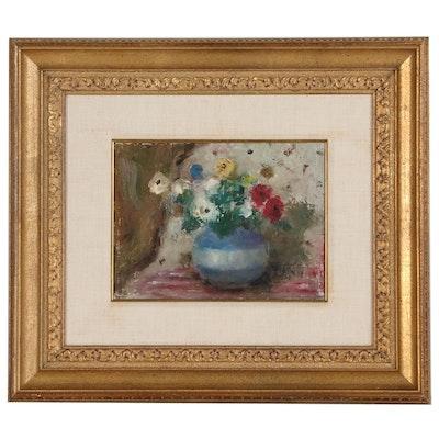 Samuel Edmund Oppenheim Floral Still Life Oil Painting