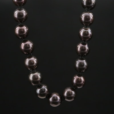 Hand Knotted Pearl Necklace with 14K Clasp