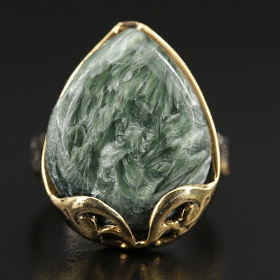 Sterling Silver Fuchsite Ring