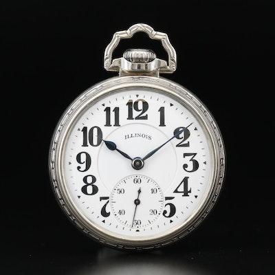 Vintage Illinois Bunn Special 14K Gold Filled Railroad Grade Pocket Watch