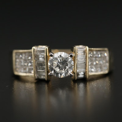10K Yellow Gold 1.20 CTW Diamond Ring
