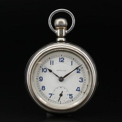 Hamilton For Wm. Coates & Sons Open Face Pocket Watch, Antique