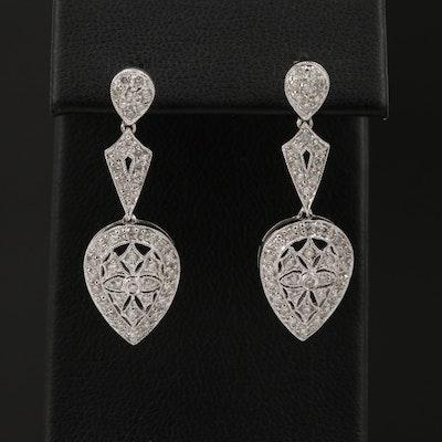14K 0.75 CTW Diamond Drop Earrings