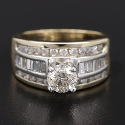 14K Yellow Gold 1.67 CTW Diamond Ring