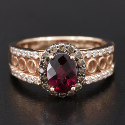 Le Vian 14K Rose Gold Garnet and Diamond Ring