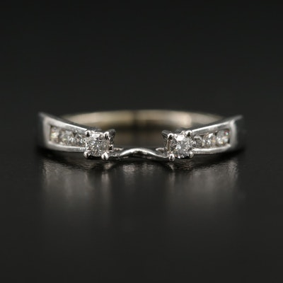 14K White Gold Diamond Ring Wrap