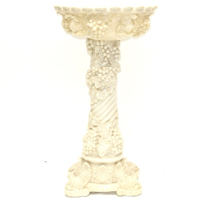 Resin Grape and Vine Motif Pedestal