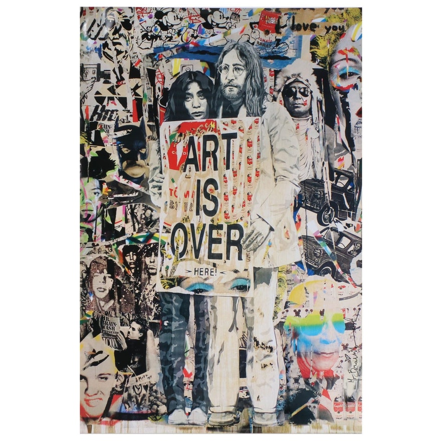"Offset Poster Print after Mr. Brainwash ""Art is Over"""