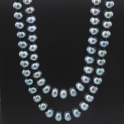 Double Strand of Knotted Pearls