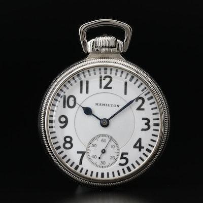 Hamilton 14K Gold Filled Railroad Grade Pocket Watch, Vintage