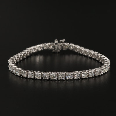 14K Gold 8.34 CTW Diamond Bracelet