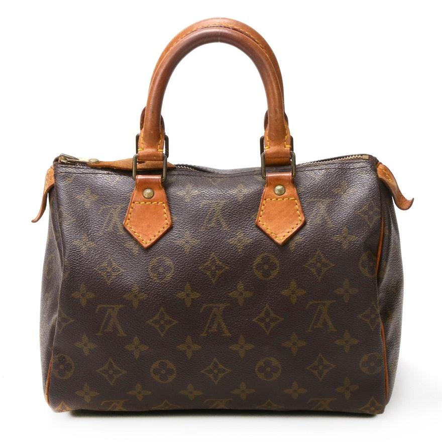 Louis Vuitton Speedy 25 Satchel in Monogram Canvas and Vachetta Leather