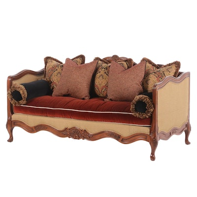 Lillian August Louis XV Style Canape Sofa, Late 20th Century
