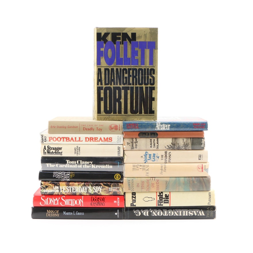 "Signed First Editions Featuring ""A Dangerous Fortune"" by Follett with More Books"