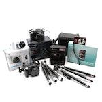 Canon, Samsung, Polaroid Cameras and Accessories, Late 20th Century