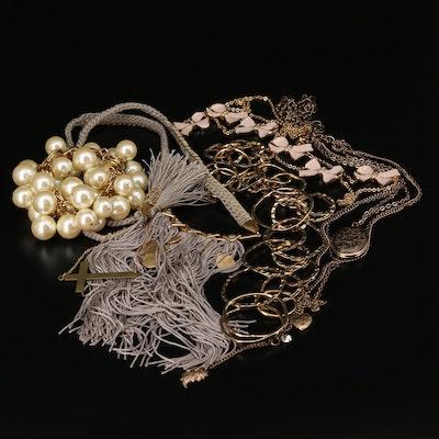 Stella & Dot Imitation Pearl and Enamel Jewelry Assortment