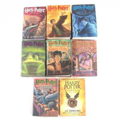"Complete Set ""Harry Potter"" Including First Editions, First Printings"