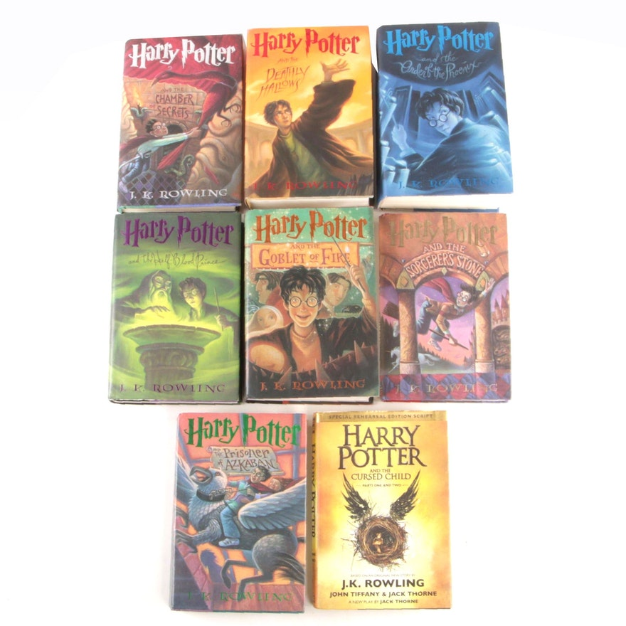 """Complete Set """"Harry Potter"""" Including First Editions, First Printings"""