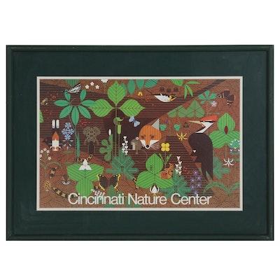 """Cincinnati Nature Center Poster after Charley Harper """"Spring"""""""