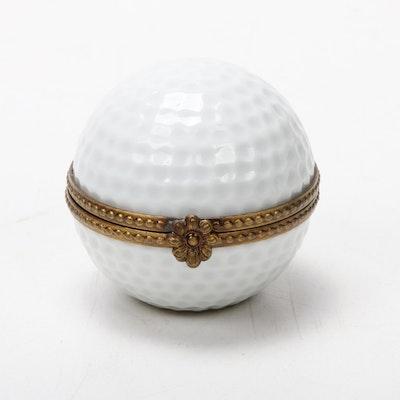 "Rochard ""Golf Ball"" Porcelain Limoges Box"