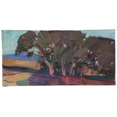 "Jose Trujillo Oil Painting ""Near the Trees"""
