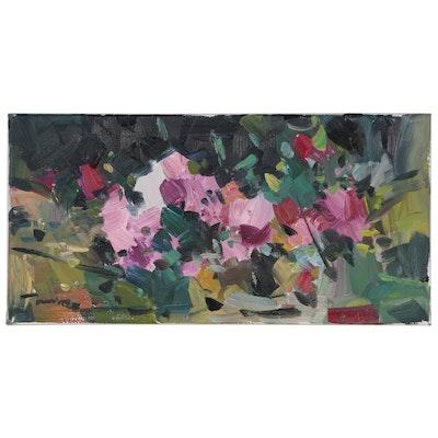"Jose Trujillo Oil Painting ""Rose Garden"""
