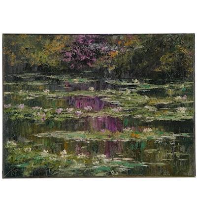 """Garncarek Aleksander Oil Painting """"Na Stawie"""""""