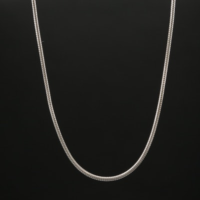 Sterling Silver Round Snake Link Chain