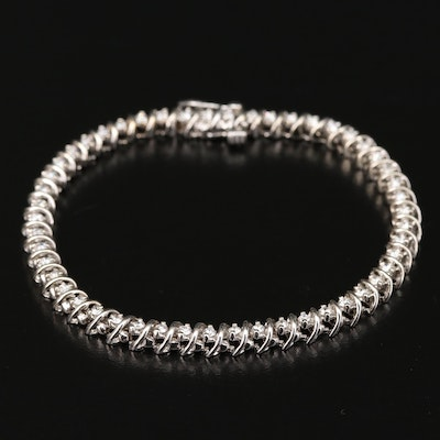 14K Gold 1.50 CTW Diamond Bracelet