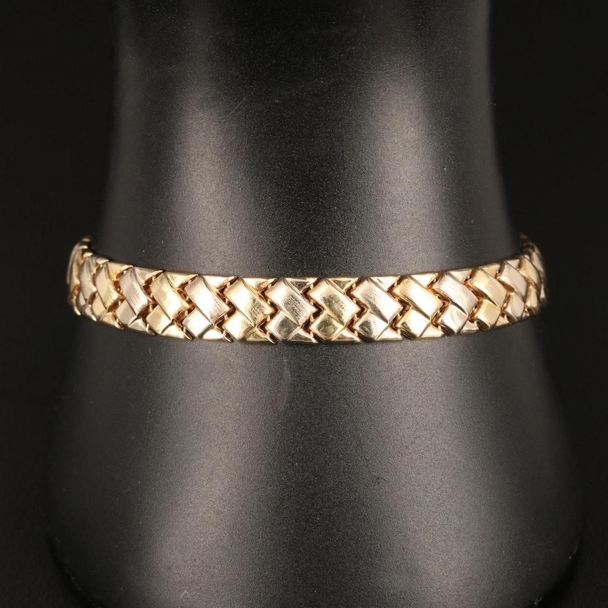 14K Yellow Gold Woven Motif Bracelet