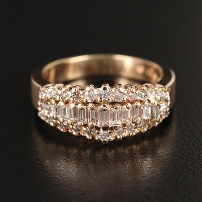 14K Yellow Gold 1.01 CTW Diamond Ring