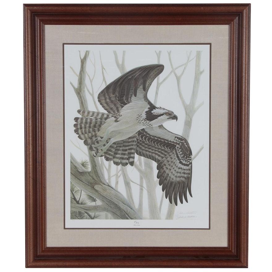 "John A. Ruthvan Offset Lithograph ""Osprey"", Late 20th Century"
