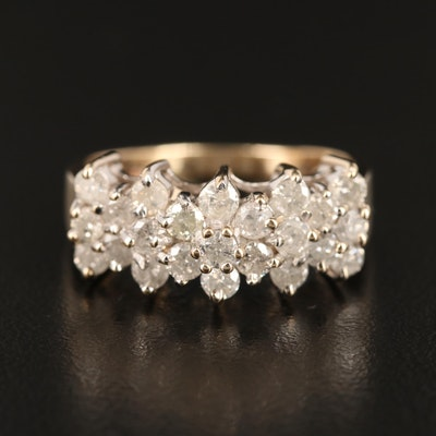10K Yellow Gold 1.26 CTW Diamond Ring