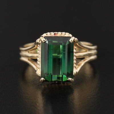 14K Yellow Gold Tourmaline Ring
