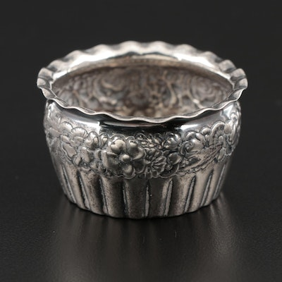 Gorham Repousse Sterling Silver Salt Cellar, 1890