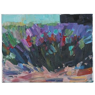 "Jose Trujillo Oil Painting ""Irises"""