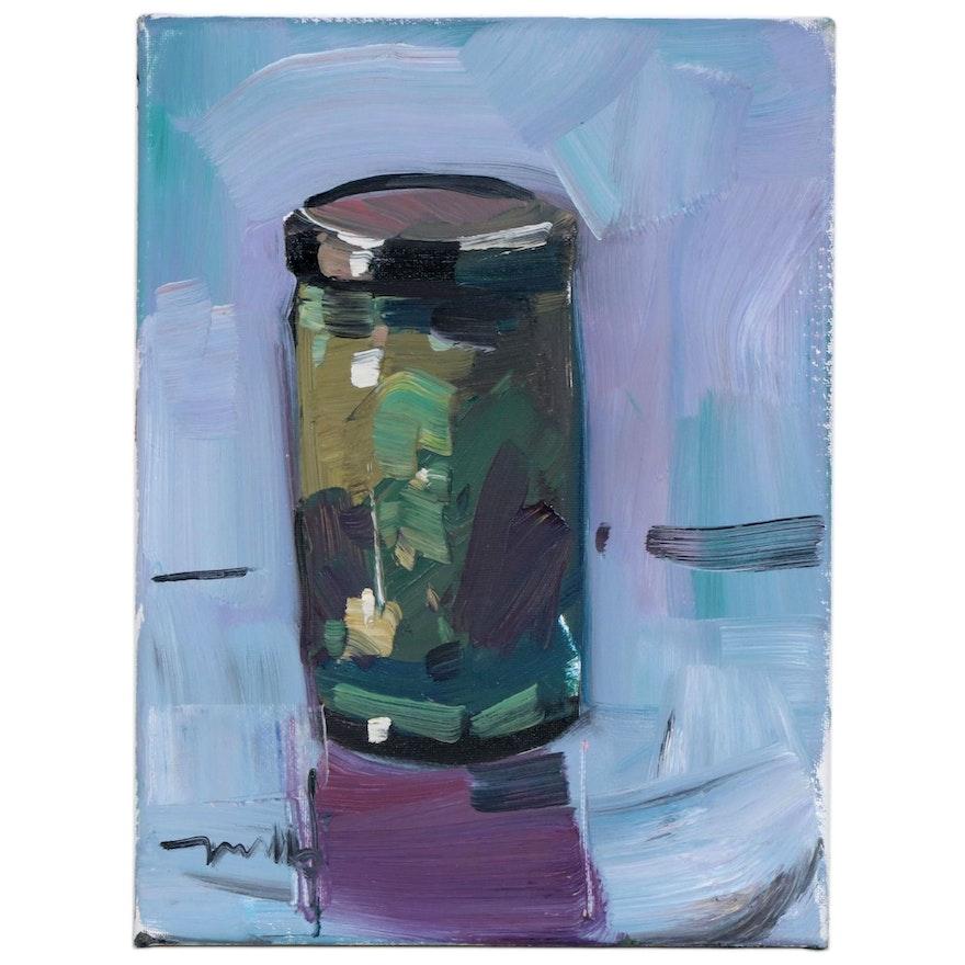 "Jose Trujillo Oil Painting ""Jam Jar"", 2020"
