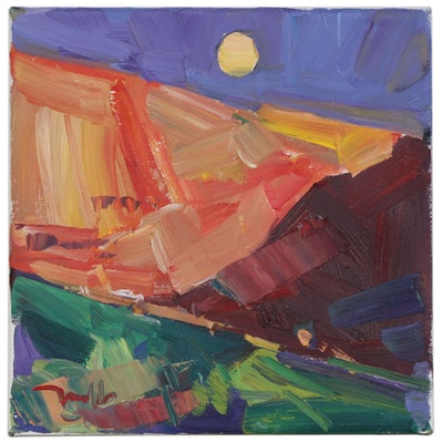 "Jose Trujillo Oil Painting ""Purple Dusk"""