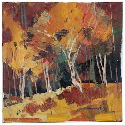 """Jose Trujillo Oil Painting """"Autumn Light"""""""