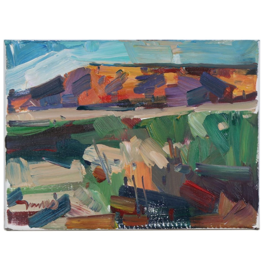 "Jose Trujillo Oil Painting ""Mountain View"""