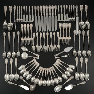 """Schofield """"Baltimore Rose"""" Sterling Silver Flatware and Serving Utensils"""