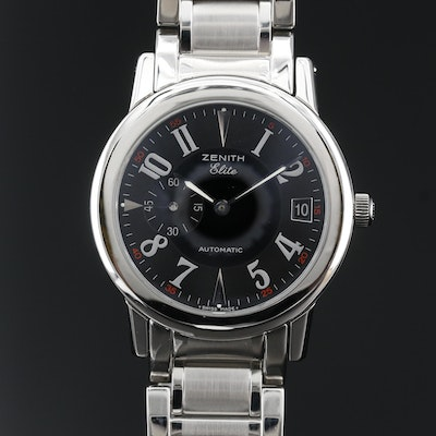 Zenith Elite Port Royal V Stainless Steel Automatic Wristwatch