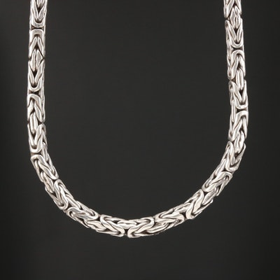 Sterling Silver Byzantine Chain Necklace