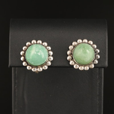Sterling Silver Calcite Cabochon Earrings