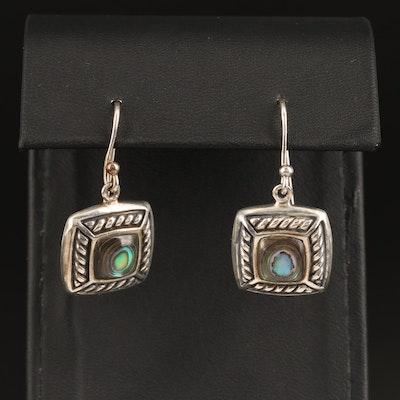 Sterling Silver Abalone Earrings