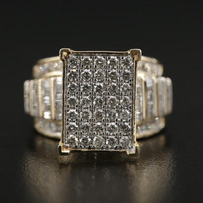 10K Yellow Gold 2.00 CTW Diamond Ring